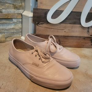 Vans Women Pink Leather Low Top Shoes Size 7